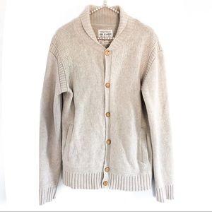 {ALL SAINTS} Chunky Knit Cardigan Unisex Sweater